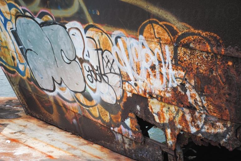 Boat Bow Graffiti 1